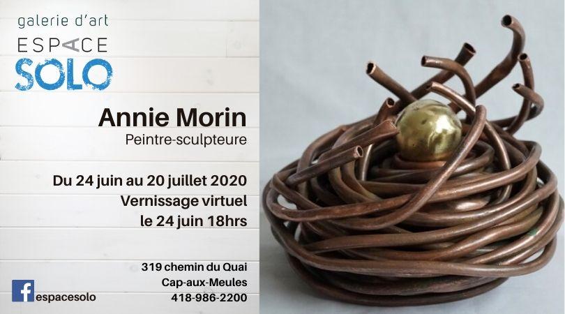 Vernissage Annie Morin espace solo