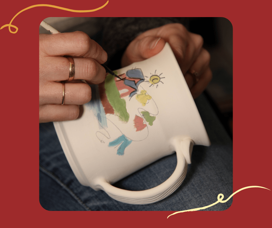 peinture sur poterie